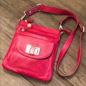 Cynthia Rowley Raspberry Pebble Leather Crossbody